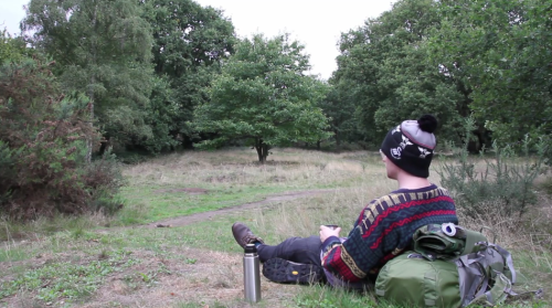 So he decided he'd sleep out in London Parks and green spaces.