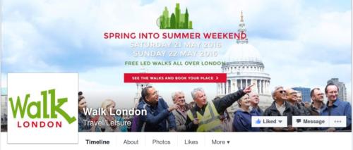 Walk London Facebook Page