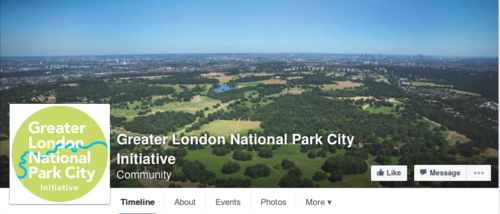 Greater London National PArk City Initiative Facebook Page