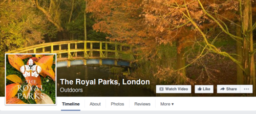 The Royal Parks London Facebook page