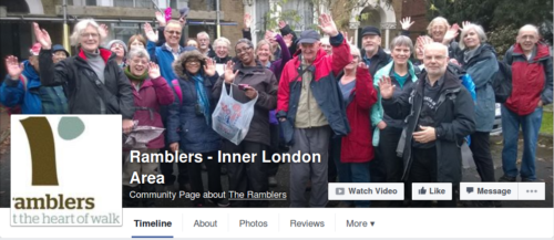 Ramblers Inner London Area Facebook Page