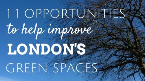 11 volunteering opportunities to help improve London's green spaces