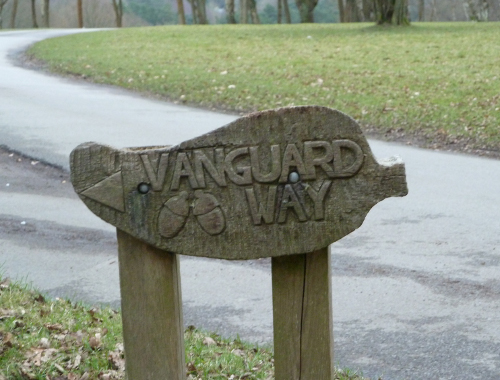 A nice Vanguard Way sign in Ashdown Forest near Forest Row.JPG